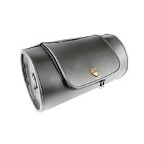 Bolsa Traseira (roll Bag) Em Couro Preto Liso 26 Litros