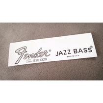 Jazz Bass Waterslide Prata - Utilizado Nos Adesivos Fender