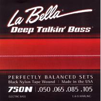 Encordoamento La Bella Baixo 750n Black Ny 050