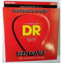 Cordas Para Contrabaixo Dr Red Devils 0.40/120 5 Cordas