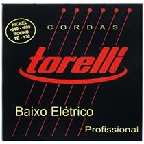 Encordoamento Torelli Te130 Para Contra Baixo .040 4 Cordas