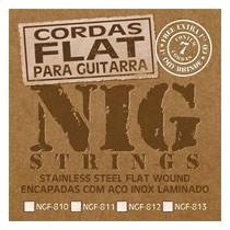 Encordoamento Nig Flat Guitarra 6 Cordas 010, 011, 012ou 013