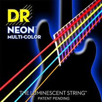 Cordas De Baixo 5 Cordas Dr Neon Multicolor 0.45/125