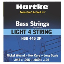 Encordoamento Hartke Para Baixo 4 Cordas 045 Nickel Wound