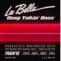 Encordoamento La Bella 760fs Deep Talkin Bass, Flat Wound