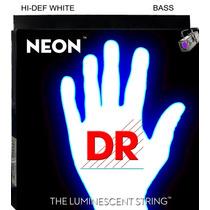 Cordas De Contrabaixo 5 Cordas Dr Neon Branca 0.45/125