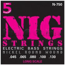 Cordas Nig P/ Baixo 5 Cordas N750 - .045 - .130