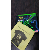 Encordoamento Dr Strings Neon Green Para Baixo 6 Cordas