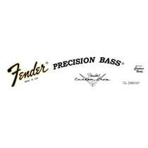 Precision Bass Waterslide-usado Nos Adesivos Fender Made Usa