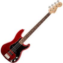 Contra Baixo Fender Precision Jazz Bass Squier Affinity Red