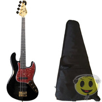 Baixo Dolphin Jazz Bass Rocket 4c Gold Top - Loja Kadu Som