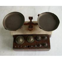 Balança Antiga Ourives C/ Cepo & Pesos - I M P E R D I V E L