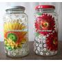 Vidros Decorados Em Alto Relevo (decoupage) Frutas / Flores