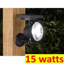 Luminaria Solar Parede Chão Luz Branca 15 Watts 60 X Forte