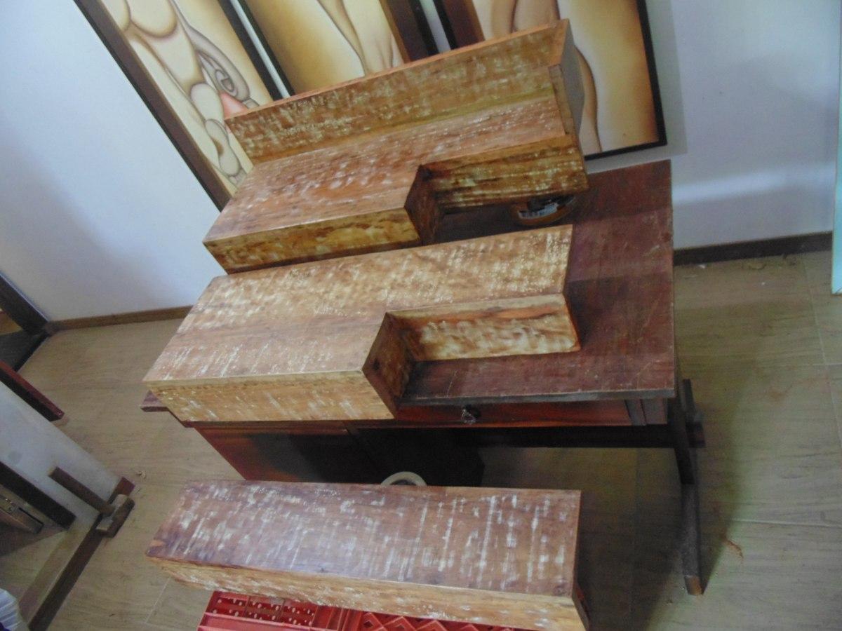 Bancada Pia Lavabo Em Madeira De Demolição Banheiro Cuba R$ 199 90  #664435 1200x900 Bancada Banheiro Mercadolivre