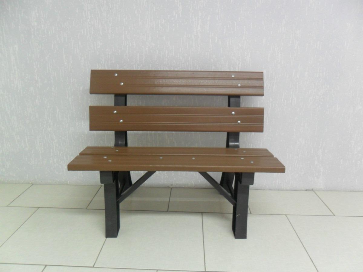 banco de 02 lugares para jardim madeira plástica . #684E35 1200x900
