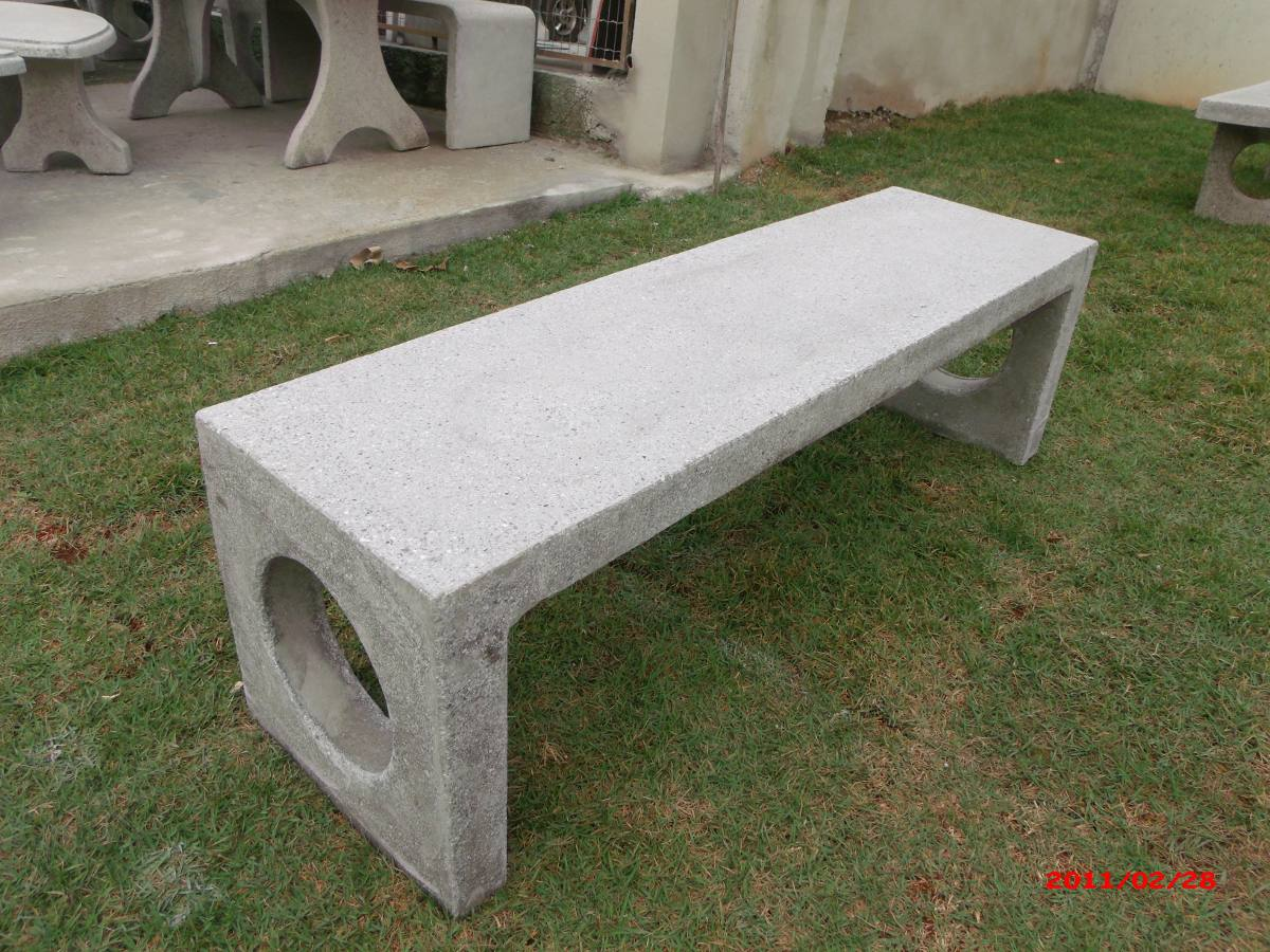 banco de concreto para jardim em jundiai : banco de concreto para jardim em jundiai:Banco De Concreto Monobloco – R$ 310,00 no MercadoLivre