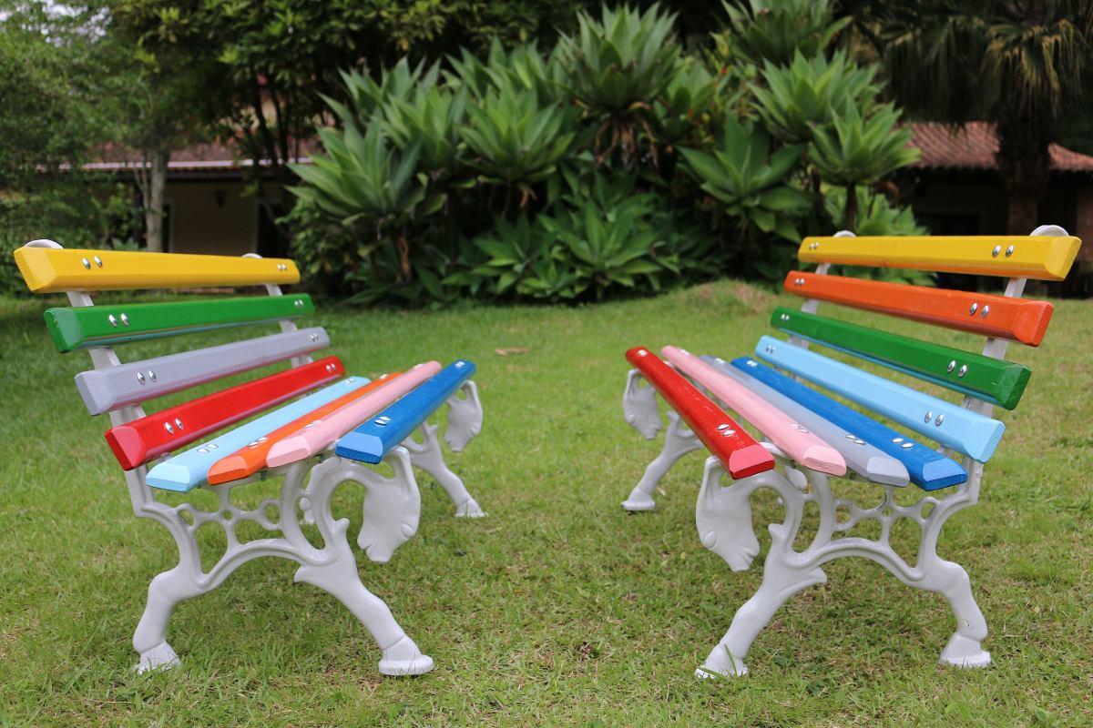 banco de jardim infantil : banco de jardim infantil:Banco De Jardim Infantil Colorido – R$ 699,99 no MercadoLivre