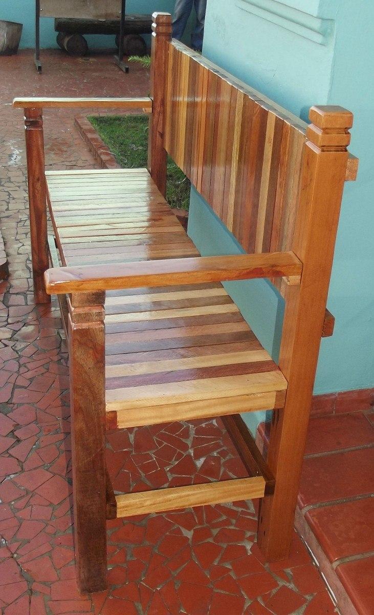 banco de jardim rustico : banco de jardim rustico:Banco Rústico De Madeira De Demolição Feito Sob Encomenda – R$ 600
