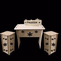 Kit Mesa Cubos Decoração Aniversários Festa Frozen Mdf