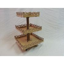 Trio Baleiro Com Pedestal Fabricado Em Mdf Cru