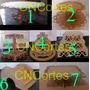 Kit Bandejas Provençal Mdf Porta Doces Cupcake Baleiro 7 Pçs