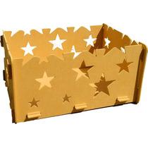 Caixa Presentes Provençal Estrela Desmontável Mdf Festa