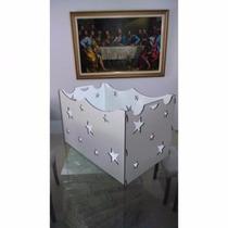 Caixa De Presente Provençal Mdf 6,0mm Branco Decoração Festa