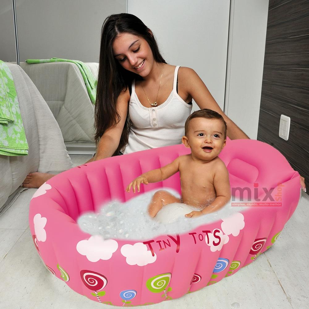 Banheira infl vel ber o piscina beb infantil crian a for Piscina p bebe