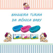 Banheira Bebe Suporte Inflavel Berço Enxoval Mônica Baby