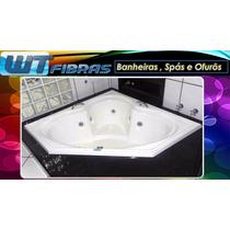 Banheira De Canto + Hidro 02 Jatos De Brinde + Travesseiro !