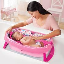 Banheira Dobrável Rosa Infantil Bebê - Summer