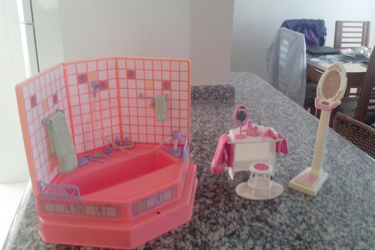 Banheiro Da Casa Dos Sonhos Barbie Anos 90 R$ 239 00 no MercadoLivre #99323D 1200x800 Banheiro Da Barbie De Papelão