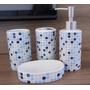 Kit Higiene De Banheiro C/ 4peças-porcelana