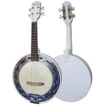 Banjo Elétrico Rozini Studio Rj11elb Branco Pele Animal