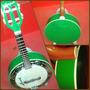 Banjo Marquês Color Verde Caixa Larga De 8 - Bm 1202