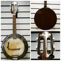 Banjo Marquês Preto Elétrico Bm01 + Capa + 5 Palhetas.