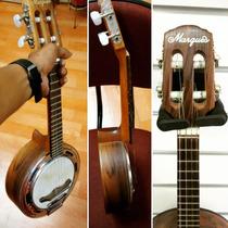 Banjo Marquês Caixa Laminada Em Jacarandá - Bm 1113