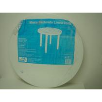 Mesa Plastica Redonda 85 Cm Disponivel Na Cor Preta