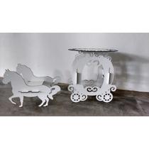 Mesa De Bolo Carruagem Com Cavalo