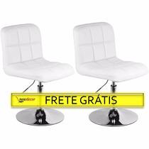 Poltrona Grécia Em Pu Kit 2 Cadeiras Frete Grátis P/ Brasil