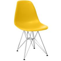 Jogo 4 Cadeiras Charles Eames Eiffel Base Aço, Frete Gratis