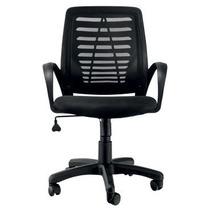 Cadeira Escritório Em Mesh Giratória Com Braços