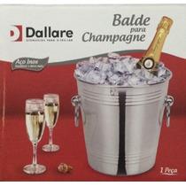 Balde Para Champagne/gelo Com Argola Em Aço Inox - Dallare