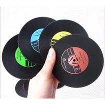 Porta Copos Discos De Vinil Kit 4 Unidades