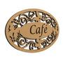 Placa De Madeira Mdf Trabalhada Café Cafeteria