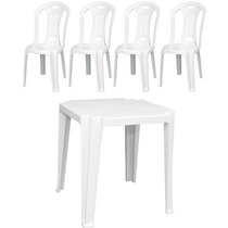 Conjunto De Mesa E Cadeiras De Plástico Exclusiva Tramontina