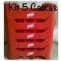 Kit Com 5 Engradados Cerveja Brahma Para 18 Garrafas 300 Ml