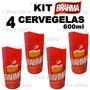 Kit 4 Cervegela Brahma 600ml Isopor Camisinha Suporte Termic