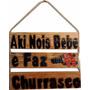Placa Decorativa Para Decoração De Churrasqueira Aki